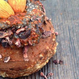 Cayenne Chocolate Ganache with Orange Water Infused Chia Gel.