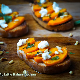 Roast Pumpkin Bruschetta with Cheese Recipe