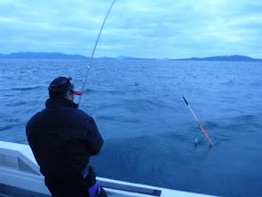 """Photo: 前回のウキ流し、シイラに邪魔されて 釣りにならなかったので 本日は場所を変えて・・・ まずは""""戸田さん""""から!"""