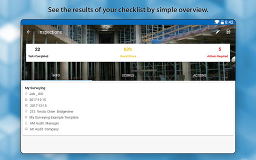 OnSite Checklist - Quality & Safety Inspector - screenshot