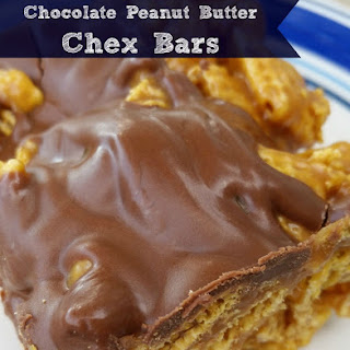 Chocolate Peanut Butter Chex Bars.