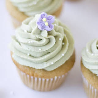 Simple Vegan Green Tea Cupcakes.