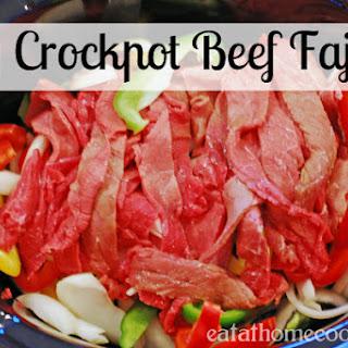 Easy Crockpot Beef Fajitas