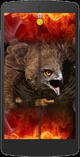 鹰拉链锁屏