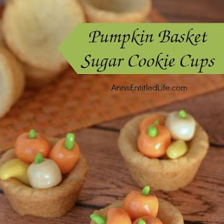Pumpkin Basket Sugar Cookie Cups