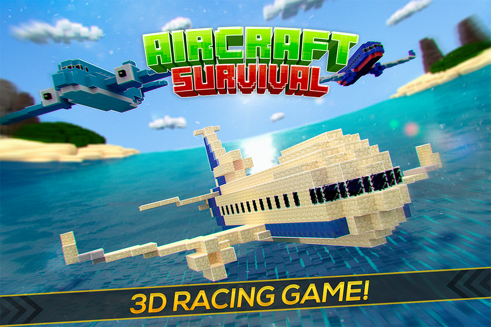 Aircraft Survival Block Planes - Flying Simulator- screenshot