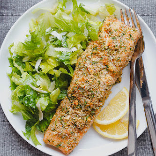 Baked Parmesan Crusted Salmon.