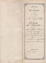 Photo: Acte de Société entre EBERLÉ, HÉRAUT et DUPUIS - 1874 -page 1