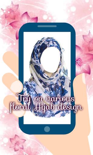 Hijab Fashion Floral Montage
