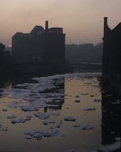 Photo: Umweltverschmutzung der Saale bei Bernburg