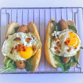 Breakfast Hot Dogs.