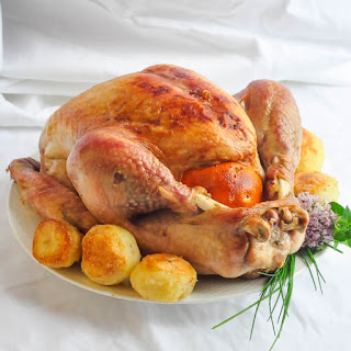 Orange and Clove Brined Roast Turkey.