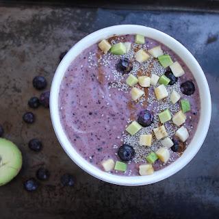 Blueberry Mango Smoothie Bowl.