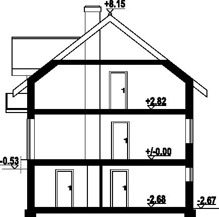 Jaworki 14m - Przekrój