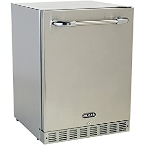 10. Bull 24-inch Compact Refrigerator – 5.6 Cu. Ft. Built-in / Freestanding Outdoor Stainless Steel – 13700