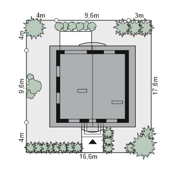 Dom przy Cyprysowej 12 K - Sytuacja
