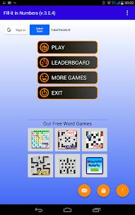 Number Fill in puzzles – Numerix, numeric puzzles 8