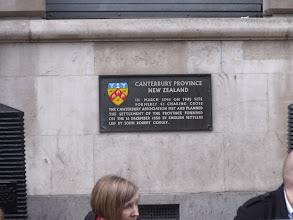 Photo: A plaque on the building opposite where I was standing.