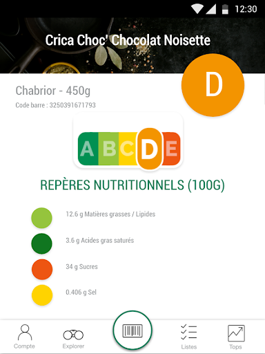 Scan Eat - Scanner alimentaire pour mieux manger  screenshots 7