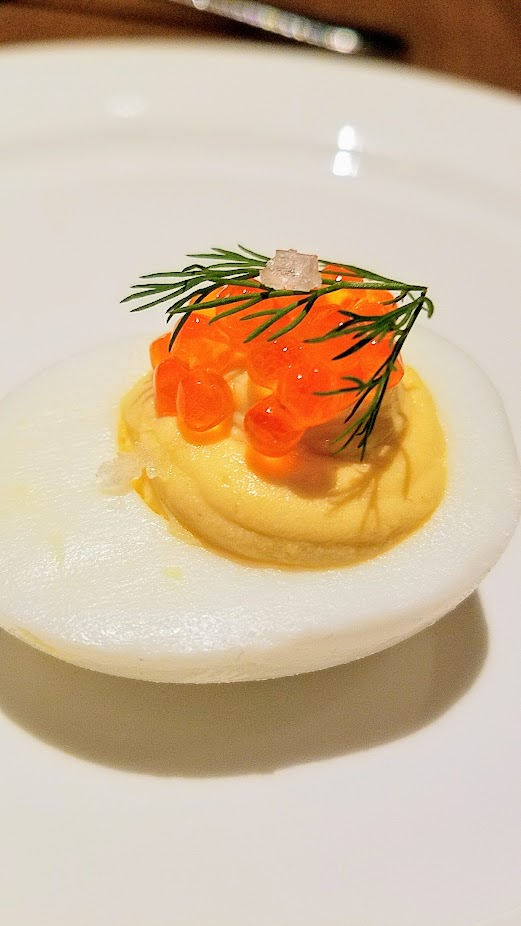 Tanner Creek Tavern, Deviled Eggs with Trout Roe and Dill