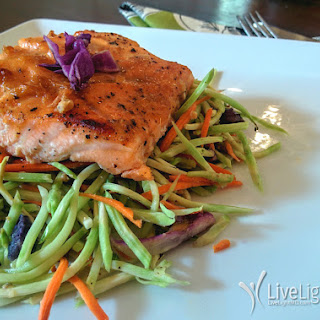 Oven Baked Salmon with Miso and Broccoli Slaw