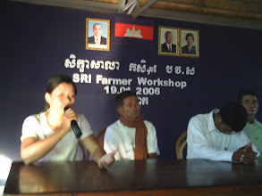 Photo: SRI Farmer Workshop in Cambodia (2006)