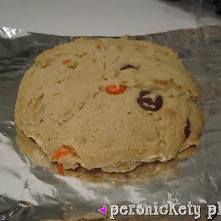 Giant Peanut Butter Reese's Pieces Cookie...for one.