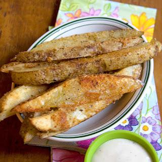 Parmesan Garlic Baked Potato Wedges.