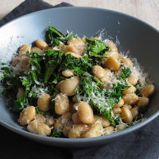 SAUTEED KALE AND BUTTER BEANS