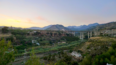 Photo: The Chillar river valley at sunset takes you into the Sierras behind Nerja