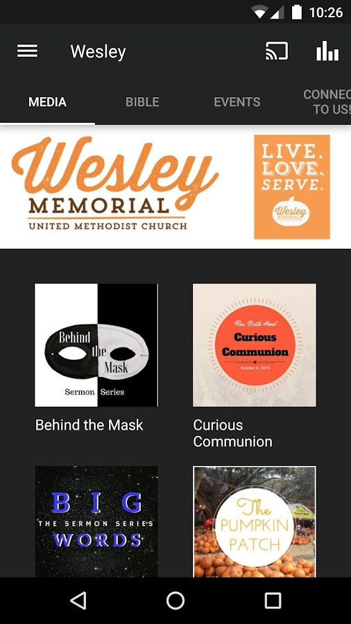 Wesley Memorial UMC- screenshot