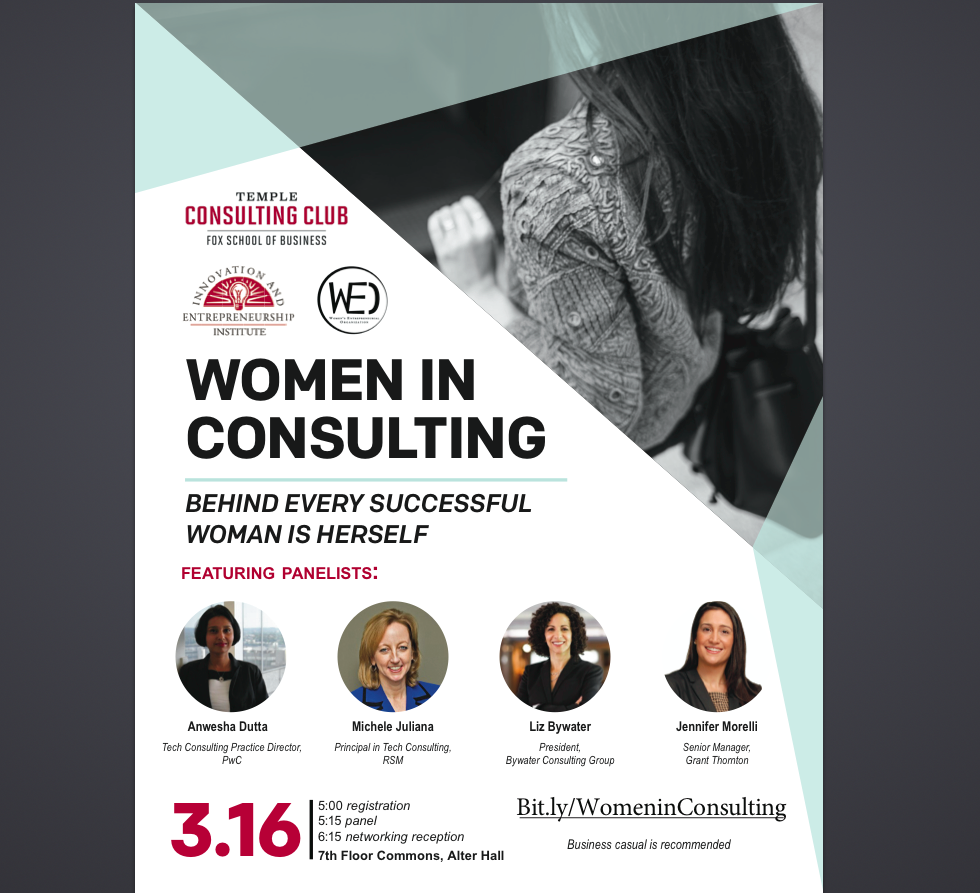 Women In Consulting Panel Discussion @ Alter Hall, 7th Floor