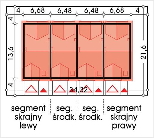 Hubert 2 zestaw 4 segmentów L+S+S+P - Sytuacja