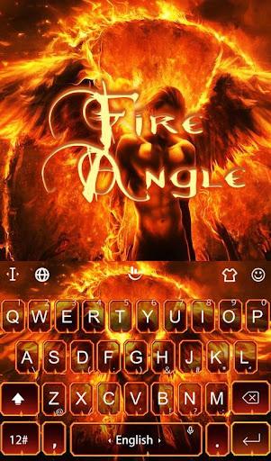 Fire Angel Keyboard Theme screenshot
