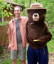 Photo: Matt gets a bear hug with Smokey.