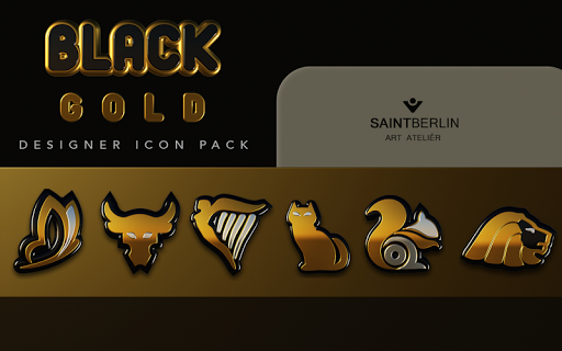 Black Gold HD Icon Pack app for Android screenshot