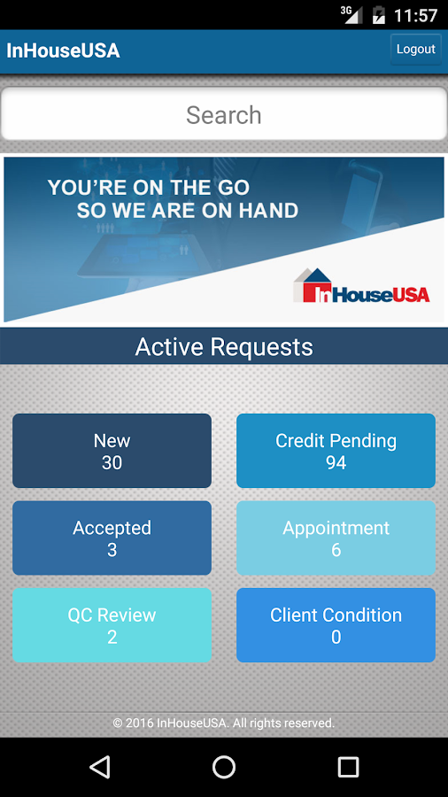 InHouseUSA Mobile App- screenshot