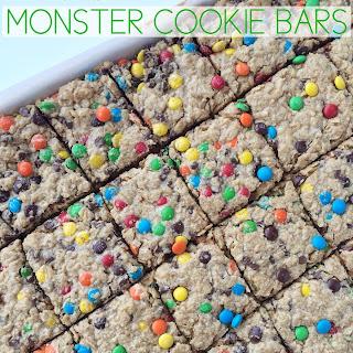 (No Flour) Monster Cookie Bars
