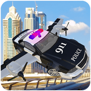 Police Flying Cop Car Driving 3D