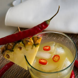Quick Chili Infused Pineapple Vodka Cocktail.