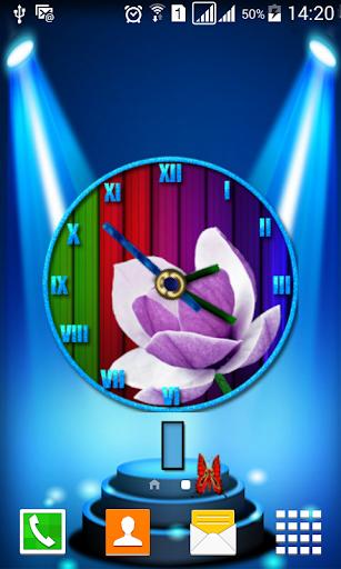 Magnolias Clock