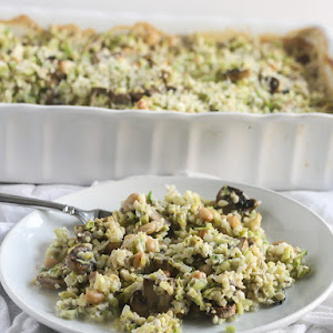 Riced Broccoli and Cauliflower Casserole