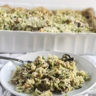 Riced Broccoli and Cauliflower Casserole.