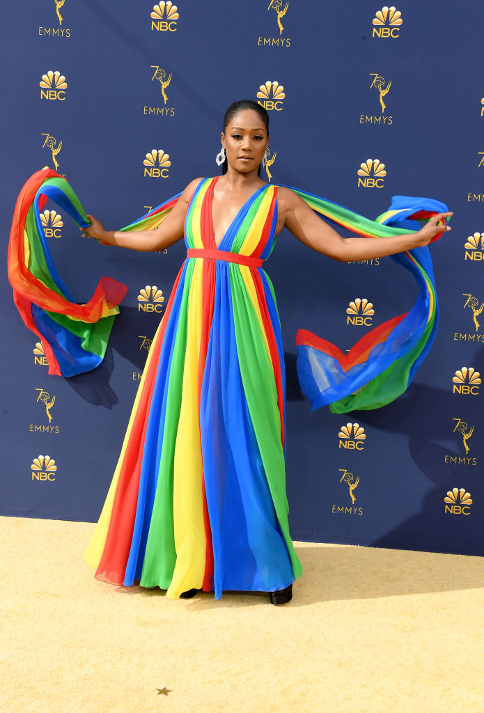 Tiffany Haddish at the 2018 Emmy Awards.