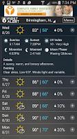 Screenshot of WBRC First Alert Weather
