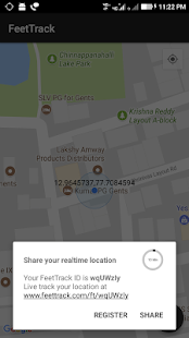 FeetTrack - Your Realtime Geo Tracker - náhled