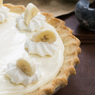 Banana Cream Cheesecake Pie #ProgessiveEats