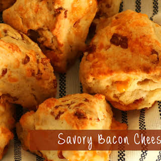 Savory Bacon Cheese Scones.