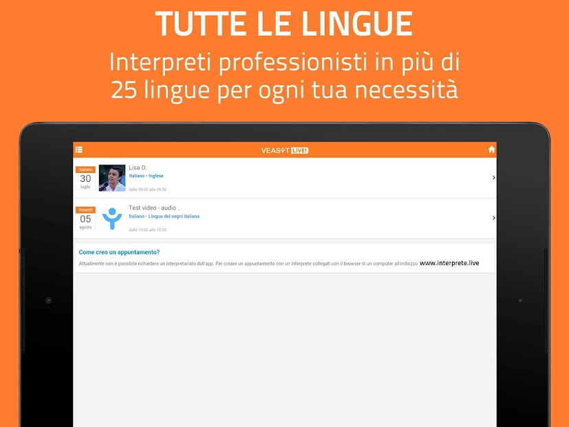 Immagine screenshot
