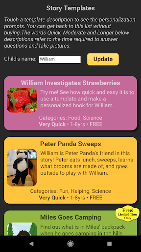Read With Me Kids - Make Personalized Books 2.4.7 screenshots 3